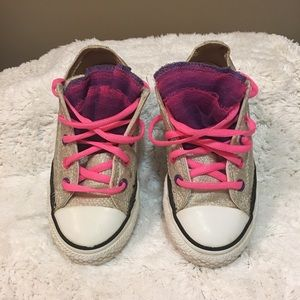 Converse All Star little girl party tulle shoes 13